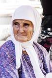 Stående av en gammal turkisk kvinna Fotografering för Bildbyråer