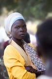 Stående av en härlig afrikansk flicka Arkivfoto