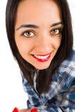 Stående av en härlig brunettdam fotografering för bildbyråer
