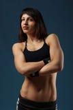 Stående av en härlig idrotts- flicka Royaltyfria Foton