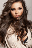 Långt Wavy hår Arkivfoto