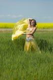 Stående av en härlig magdansös Fotografering för Bildbyråer