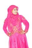 Stående av en härlig muslimkvinna Arkivfoto
