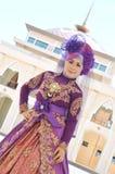 Stående av en härlig muslimkvinna Arkivfoton