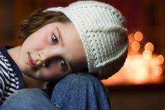 Stående av en härlig ung flicka Arkivfoto