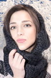 Stående av en härlig ung flicka fotografering för bildbyråer