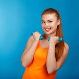 Stående av en härlig ung idrotts- flicka Royaltyfri Fotografi