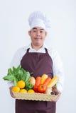 Stående av en hållande frukt och grönsak för Royaltyfri Bild