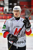 Stående av en hockeyspelare Royaltyfri Foto