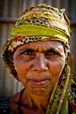 Stående av en indisk kvinna Julian Bound Arkivfoto