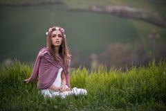 Stående av en italiensk flicka Royaltyfri Bild