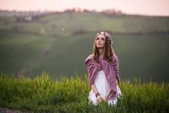 Stående av en italiensk flicka Arkivbilder