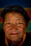 Stående av en kvinna från Tibet Royaltyfria Bilder