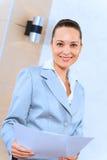 Stående av en lyckad affärskvinna Arkivfoton
