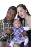 Stående av en lycklig familj Royaltyfria Bilder