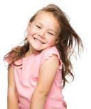 Stående av en lycklig liten flicka arkivbild
