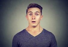 Stående av en man med chockat ansiktsuttryck Royaltyfri Fotografi