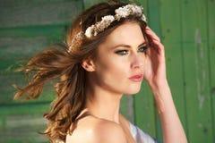 Stående av en modebrud royaltyfri fotografi