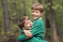 Stående av en pojke Fotografering för Bildbyråer