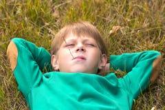 Stående av en pojke Royaltyfria Bilder