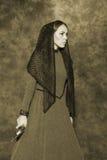 Stående av en rysk handels- kvinna Arkivfoto