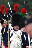 Stående av en soldat-reenactor Arkivfoto