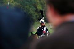 Stående av en soldat-reenactor Fotografering för Bildbyråer