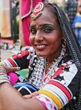 STÅENDE AV EN STAM- DANSARE FÖR KALBELIA, AJMER, RAJASTHAN, INDIEN Royaltyfri Fotografi