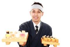 Stående av en sushikock royaltyfri foto