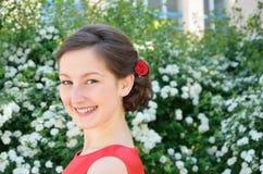 Stående av en tonårs- flicka Fotografering för Bildbyråer