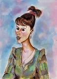 Stående av en ung affärskvinna Royaltyfri Bild