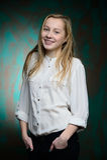 Stående av en ung blond härlig flicka Arkivfoto