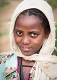 Stående av en ung etiopisk flicka Royaltyfria Bilder