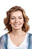 Stående av en ung förvånad kvinna. royaltyfria bilder