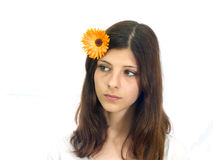 Stående av en ung flicka Royaltyfri Bild