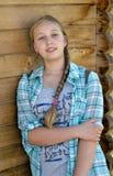 Stående av en ung flicka Arkivfoton