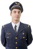 Stående av en ung fransk militär flygare, 50-tal Arkivbilder