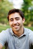 Stående av en ung man utanför Fotografering för Bildbyråer
