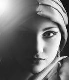 Stående av en ung skönhetflicka Arkivbild