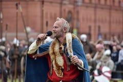 Stående av en Viking Arkivfoton