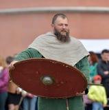 Stående av en Viking Royaltyfri Foto