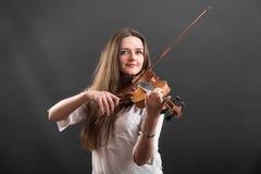 Stående av en violinist royaltyfri bild