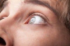 Stående av ett övre öga för stiligt manslut fotografering för bildbyråer
