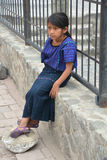 Stående av ett Mayan barn Arkivfoto
