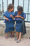 Stående av ett Mayan barn Royaltyfria Bilder