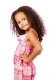 Stående av flickan för blandad race arkivbild