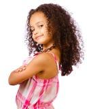 Stående av flickan för blandad race arkivbilder