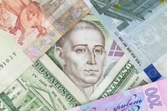 Stående av Gregory Skovoroda på hryvniaen för sedel 500 - ukrainsk valuta Fotografering för Bildbyråer