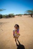 Stående av gullig Wayuu indisk La Guajira Royaltyfria Bilder