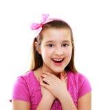 10 år flicka Royaltyfria Bilder